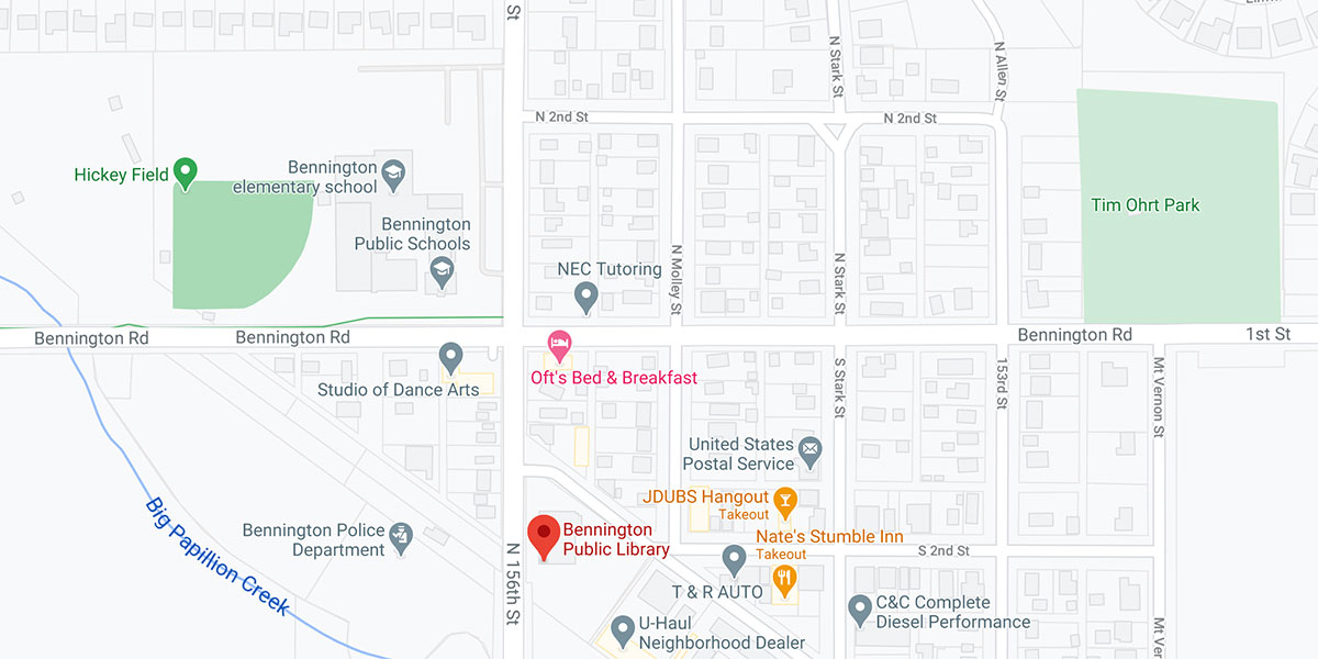 bennington public library map