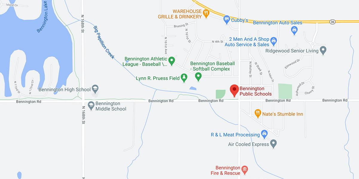 bennington public schools map